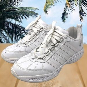 K Swiss Sneakers Shoes White Leather Lace Up 7.5
